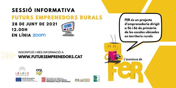 Les escoles ja es poden inscriure al projecte educatiu Futurs Emprenedors Rurals (FER) per al curs 2021-2022